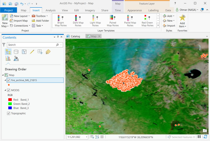 FIRMS - ArcGIS Burned Areas - Tutorial