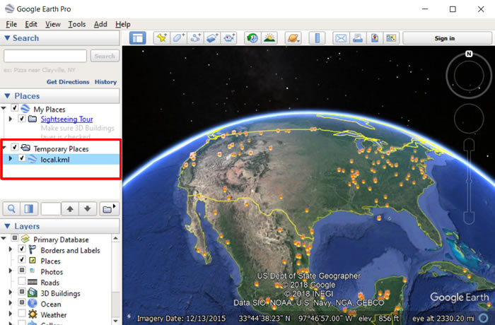 FIRMS - Google Earth Pro - Tutorial